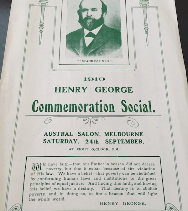 The Annual Henry George Commemorative Dinner