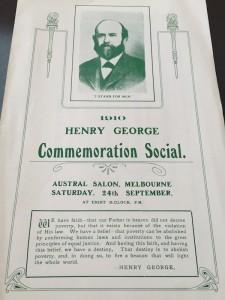 Henry George Commemoration Social 1910